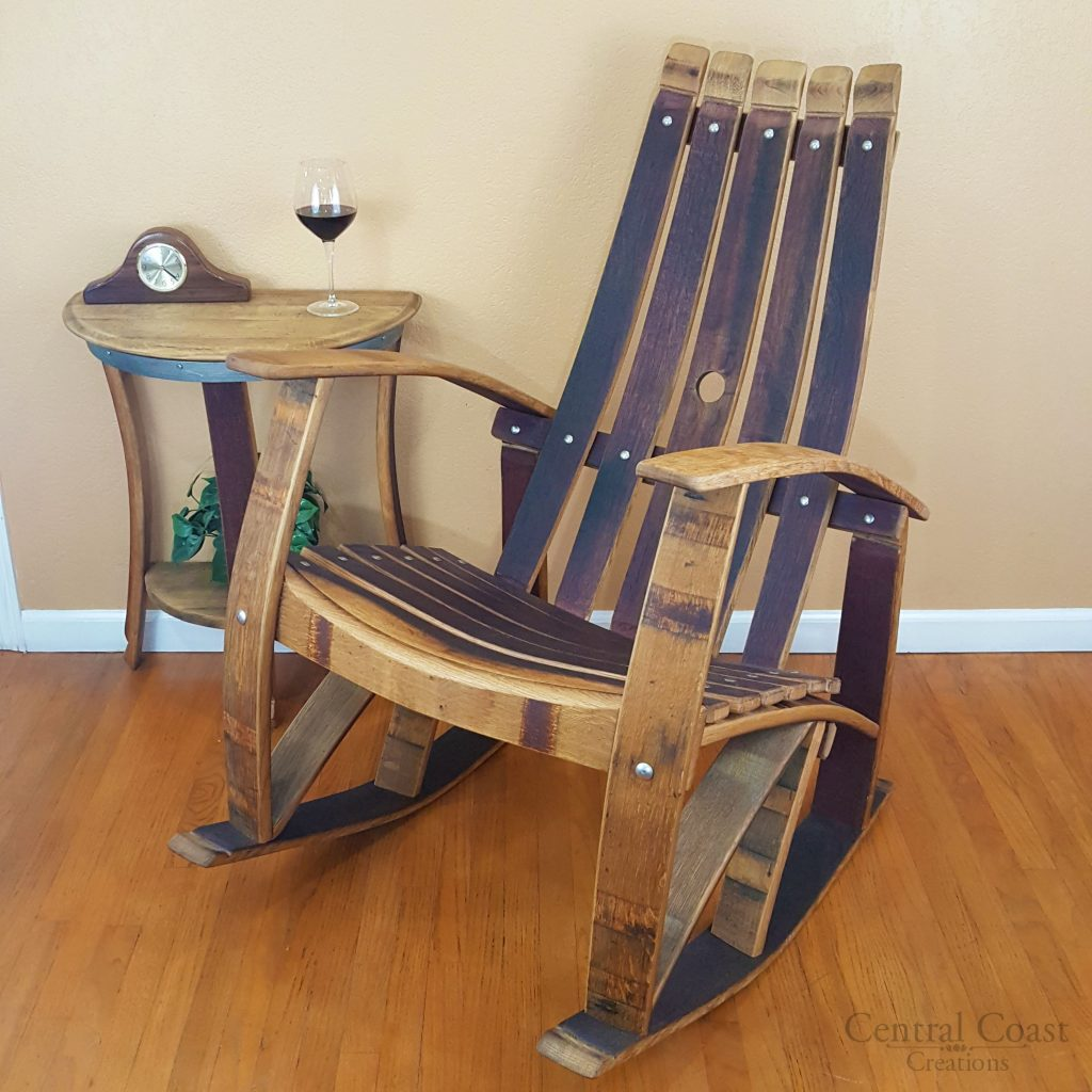 Wine Barrel Rocking Chair Free Shipping Central Coast