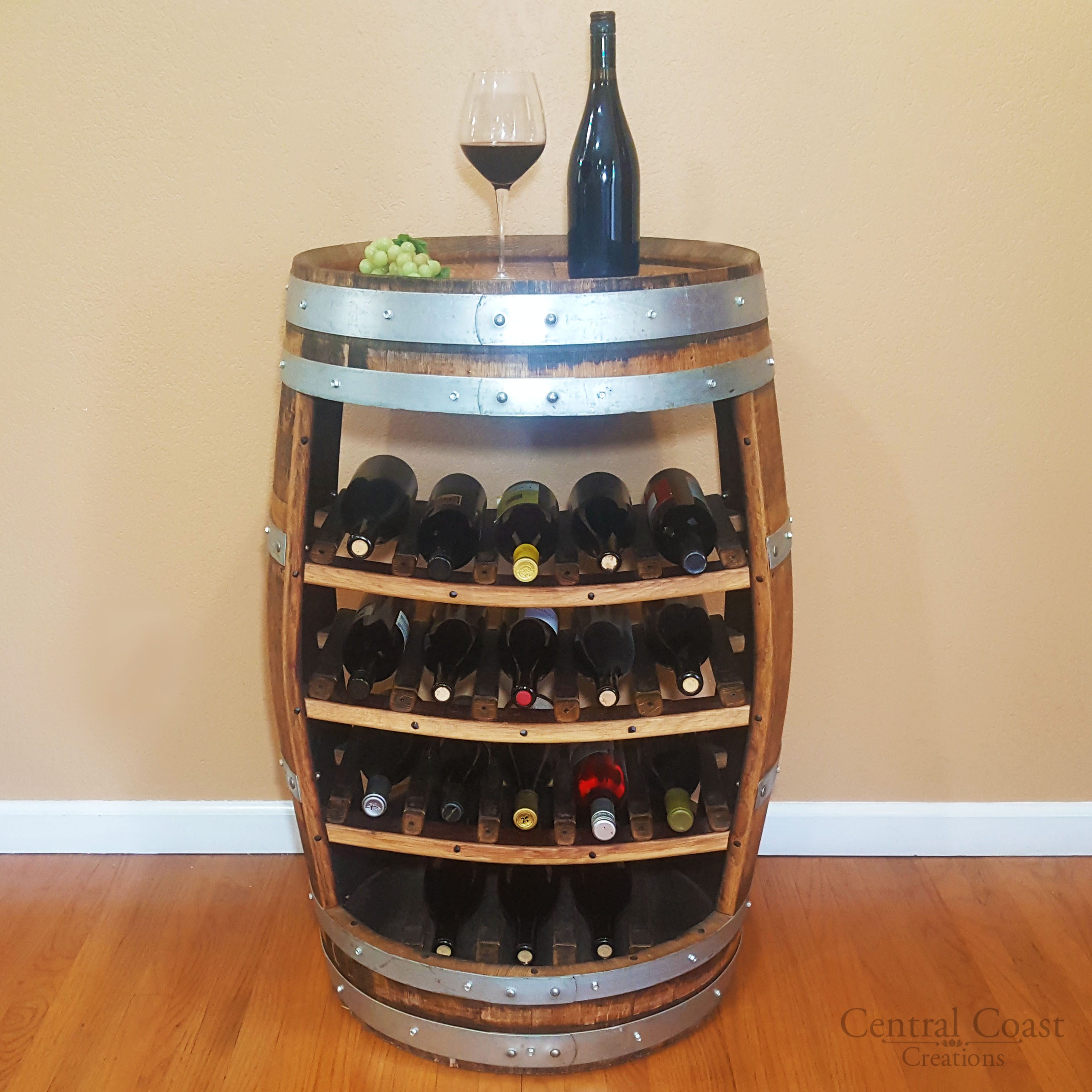 Wine Barrel 18 Bottle Wine Rack Free Shipping Central