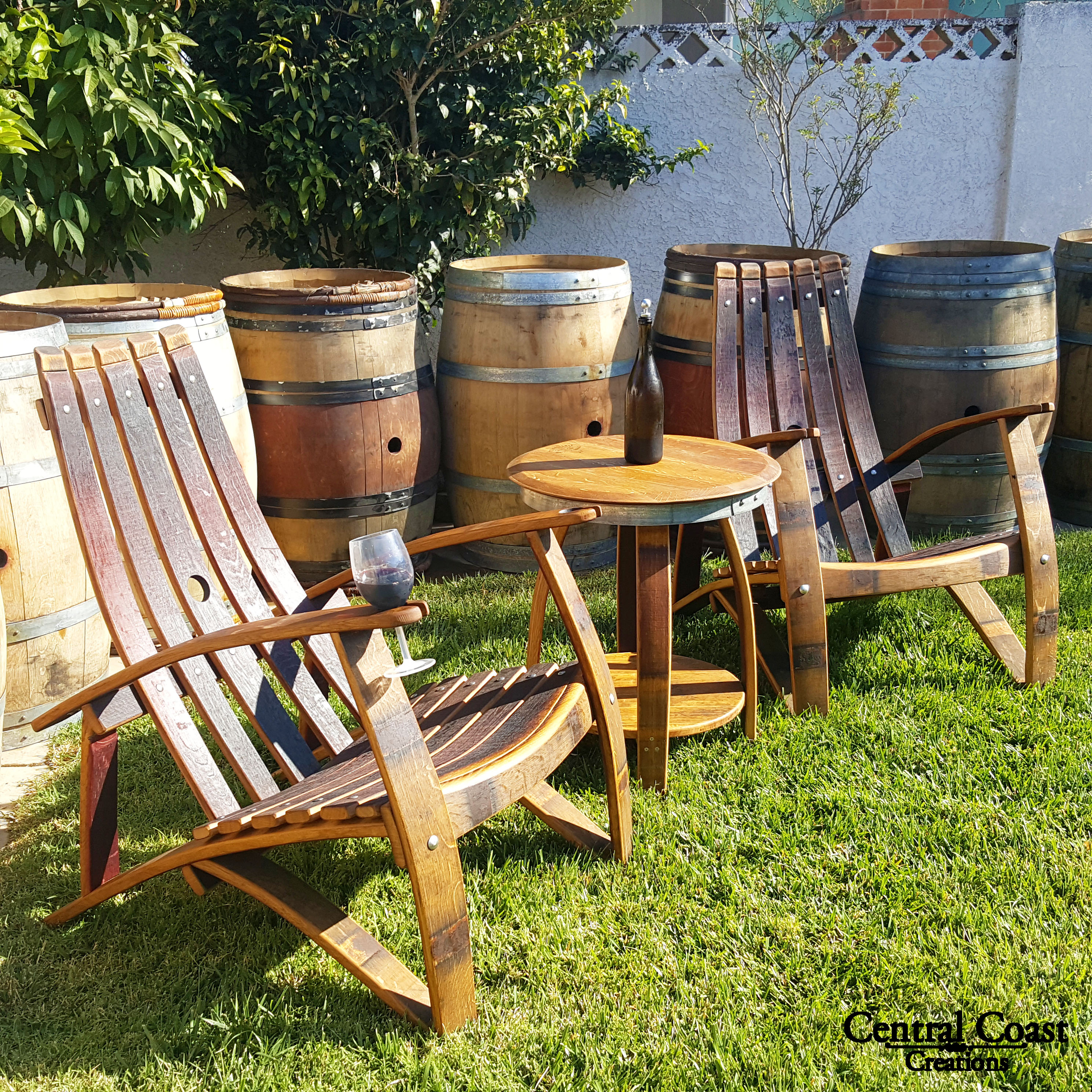 Adirondack Chair Set (CONTACT FOR SHIPPING)