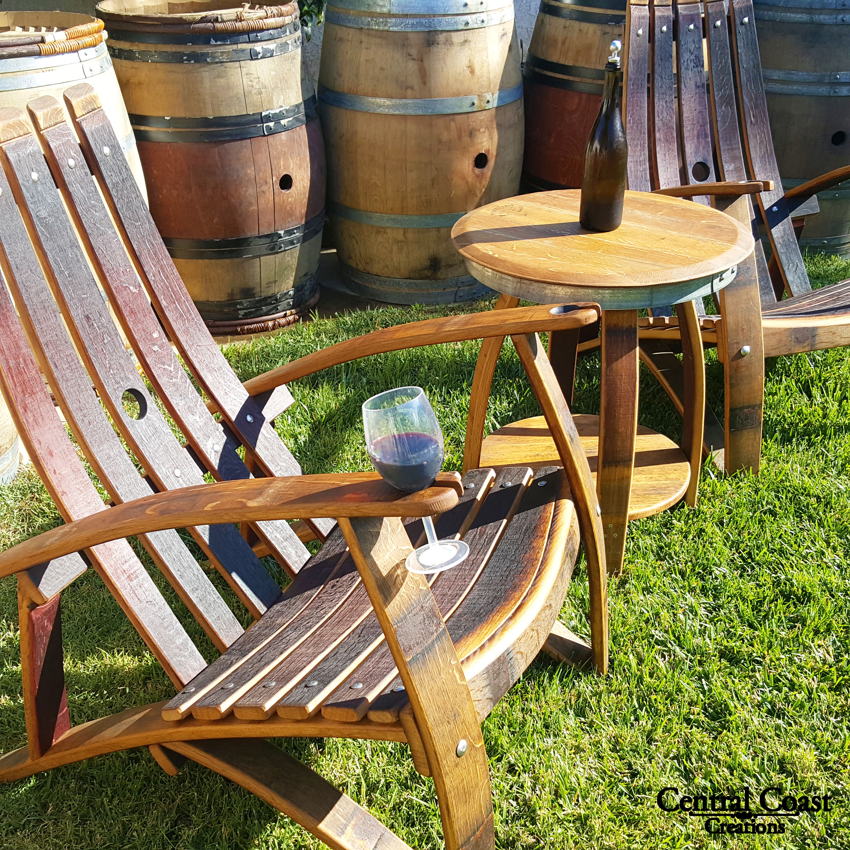 Perfect Adirondack Chair Set (CONTACT FOR SHIPPING)