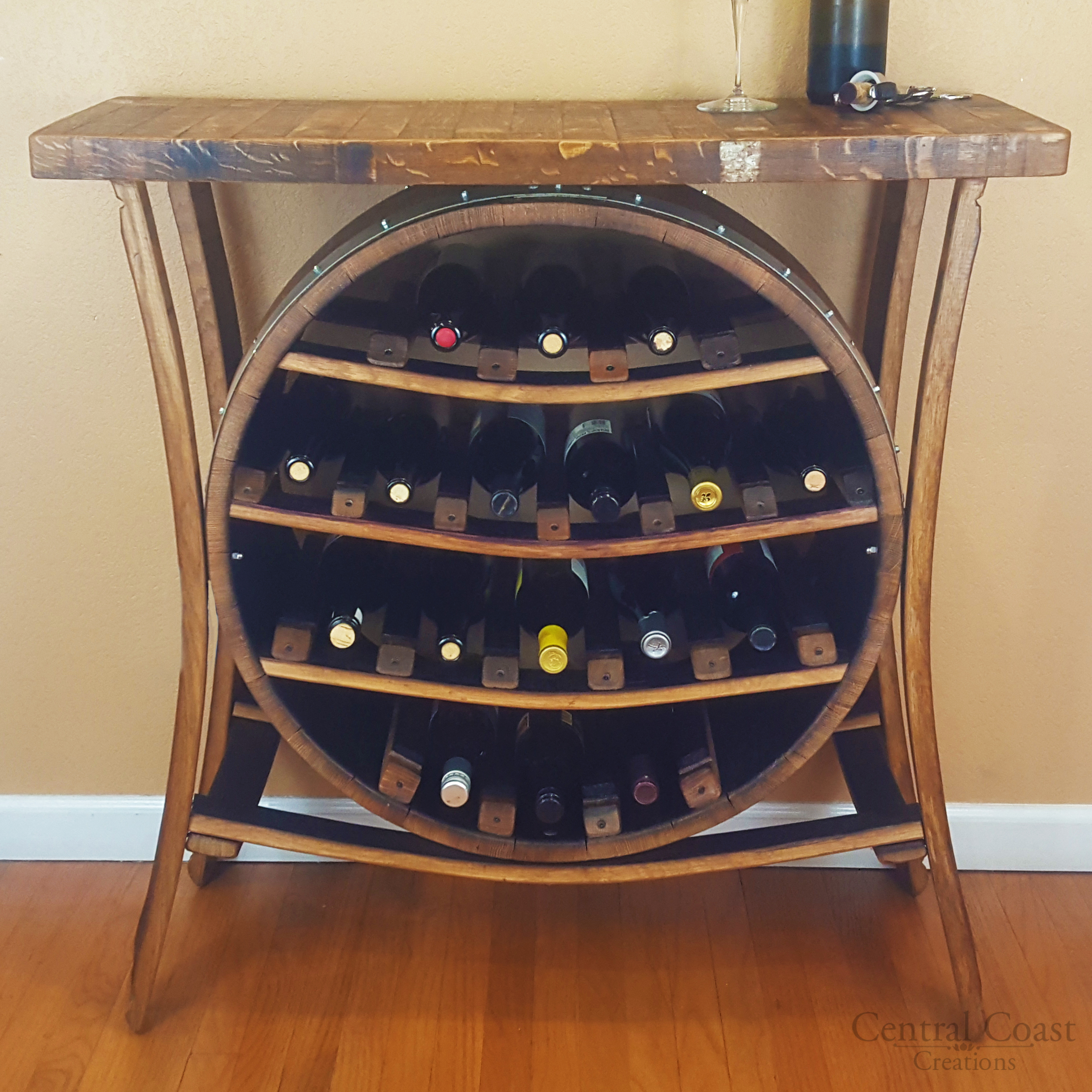 Wine Barrel 17 Bottle Wine Rack Free Shipping Central