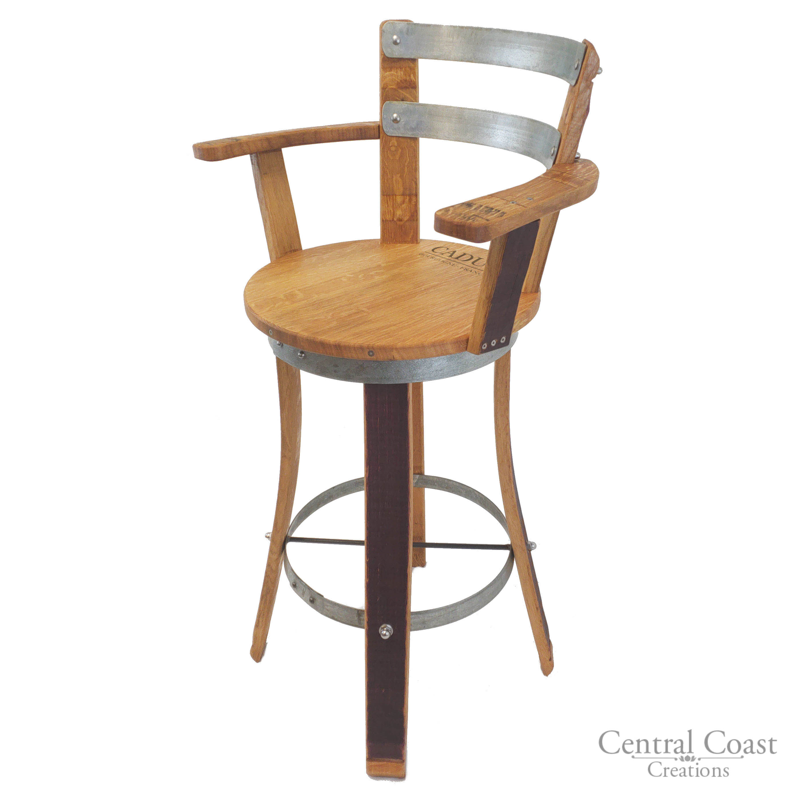 Awesome Details About Swivel Top Wine Barrel Stool W Armrest 24 26 30 Sit Height Rustic Furniture Evergreenethics Interior Chair Design Evergreenethicsorg